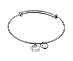 Acél karkötő Hot Diamonds Emozioni Silver Bangle DC107