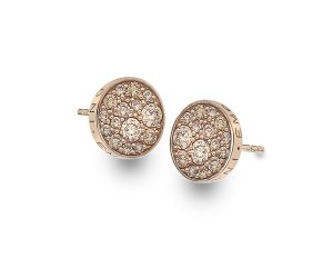 Ezüst fülbevaló Hot Diamonds Emozioni Scintilla Champagne Rose Gold