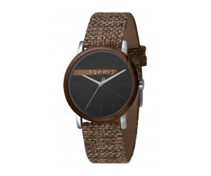 ESPRIT karóra Plywood Black Grey Canvas - G
